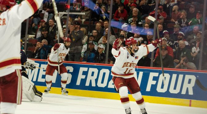 Ultimate team player Evan Ritt finding his game at Frozen Four