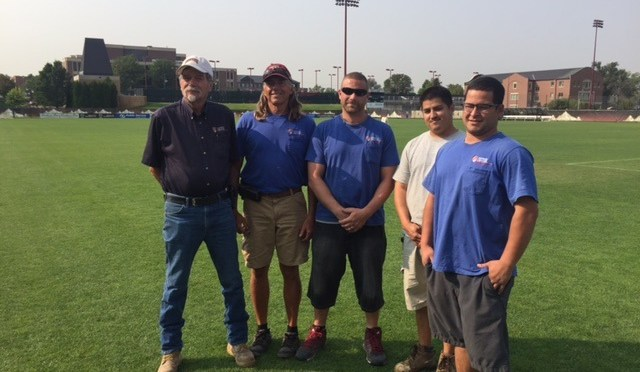 DU's grounds crew delivers for Pioneer teams & fans