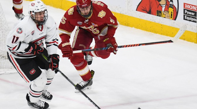 Pioneers swept by St. Cloud State in first NCHC road trip