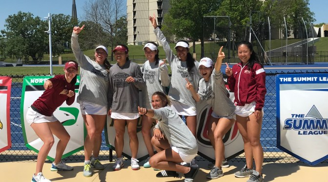 Six-cess! DU women's tennis claims Summit League tourney title