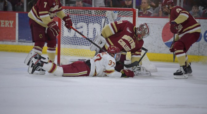 Special teams, strong second period power Denver past Boston College to Pioneers' third straight sweep