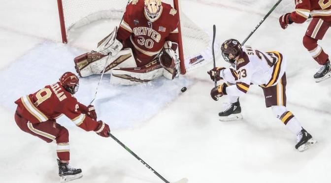 Pioneers drop four of six points against Minnesota Duluth to open NCHC play