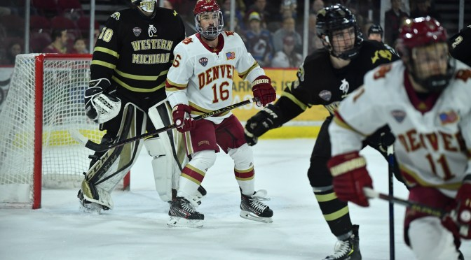 Pioneers can't stop slide as Western Michigan takes game one, 2-1