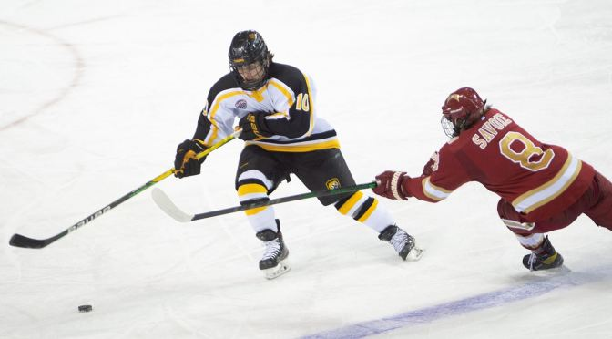 Pioneers Explode for Five Goals in Second Period, Pull Within One Win of Clinching Gold Pan