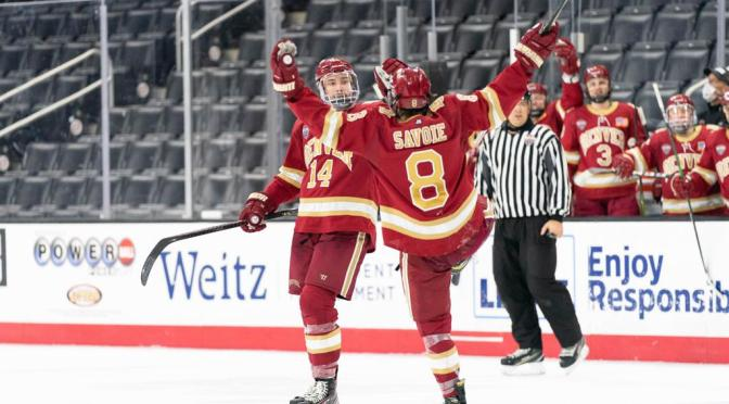 Bo Hanson's First DU Goal Lifts Shorthanded Pioneers Over Mavericks in Frozen Faceoff Quarterfinal Thriller
