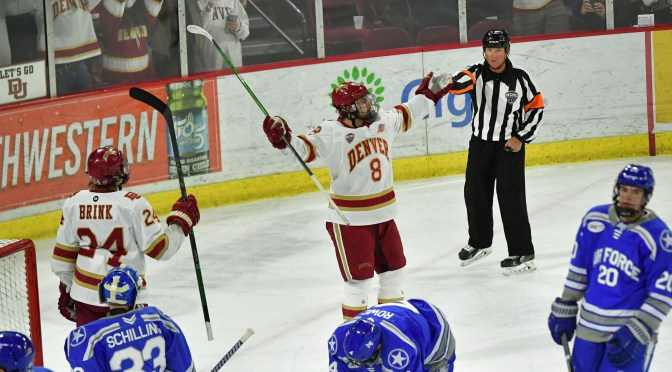 Savoie's Career Night Helps Pioneers Shut Out Falcons and Complete Sweep