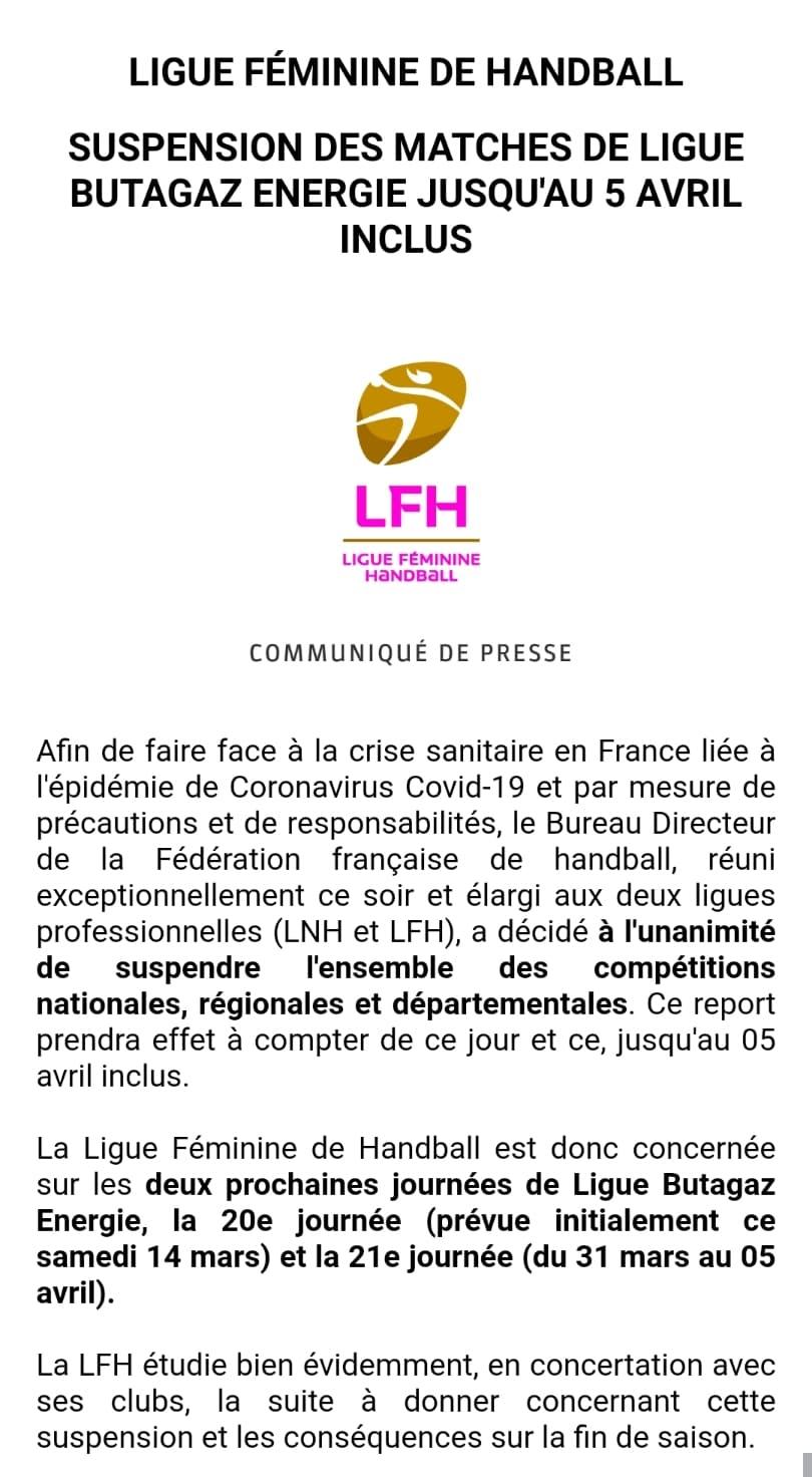 handball communiqué