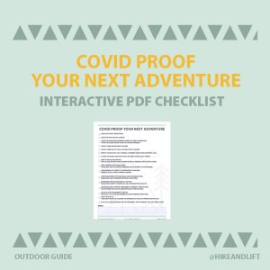 COVID Proof Your Next Adventure Interactive PDF Checklist