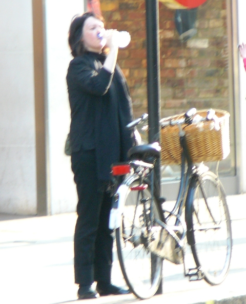 Another lovely lady with her Dutch bike