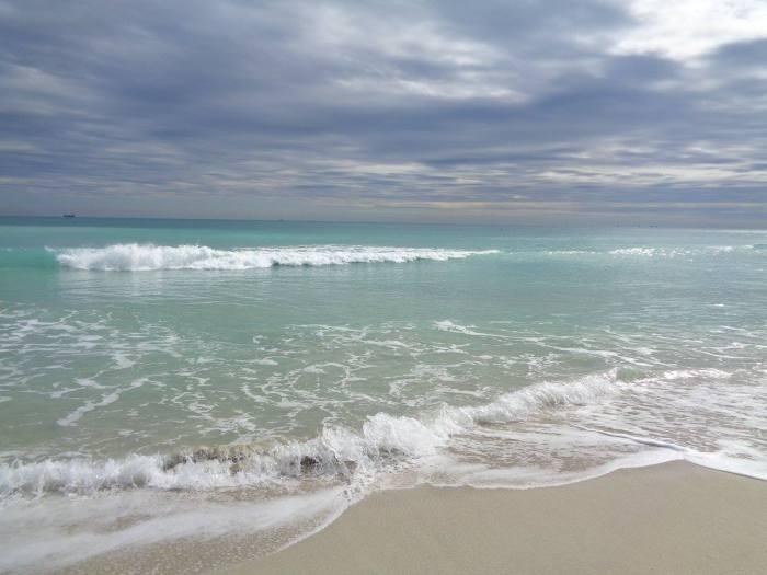 L'oceano a Miami Beach