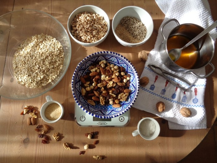 Granola: ingredienti
