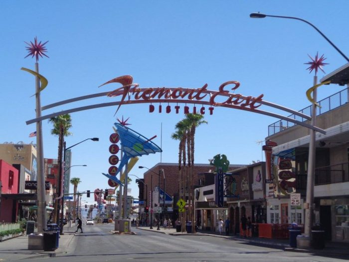 Fremont east district Las Vegas