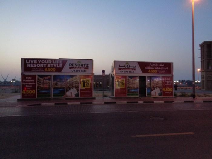 Tipiche fermate dell'autobus a Dubai