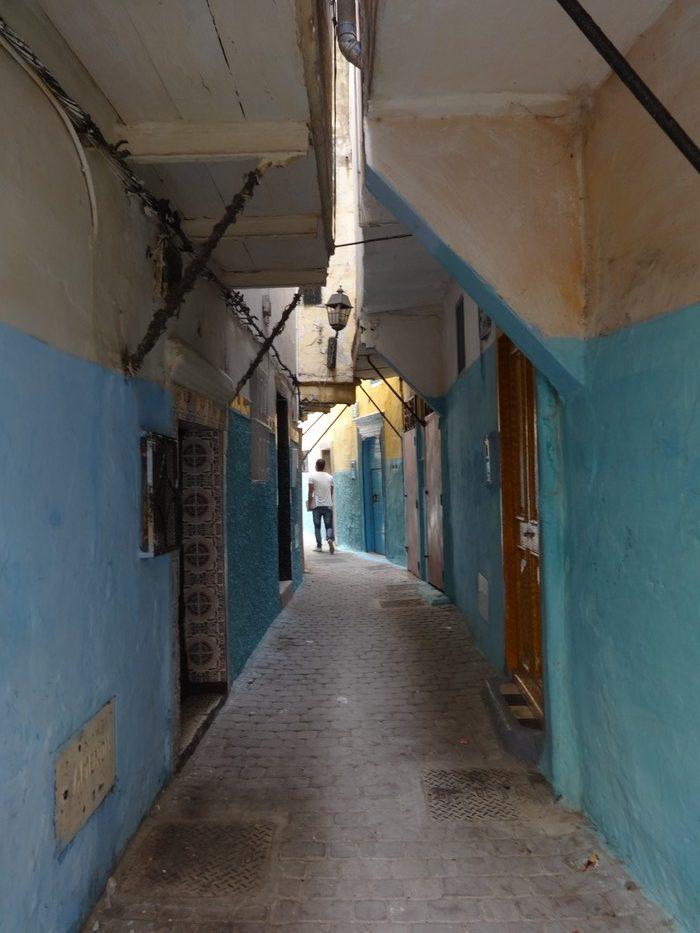 Le vie azzurre di Tangeri