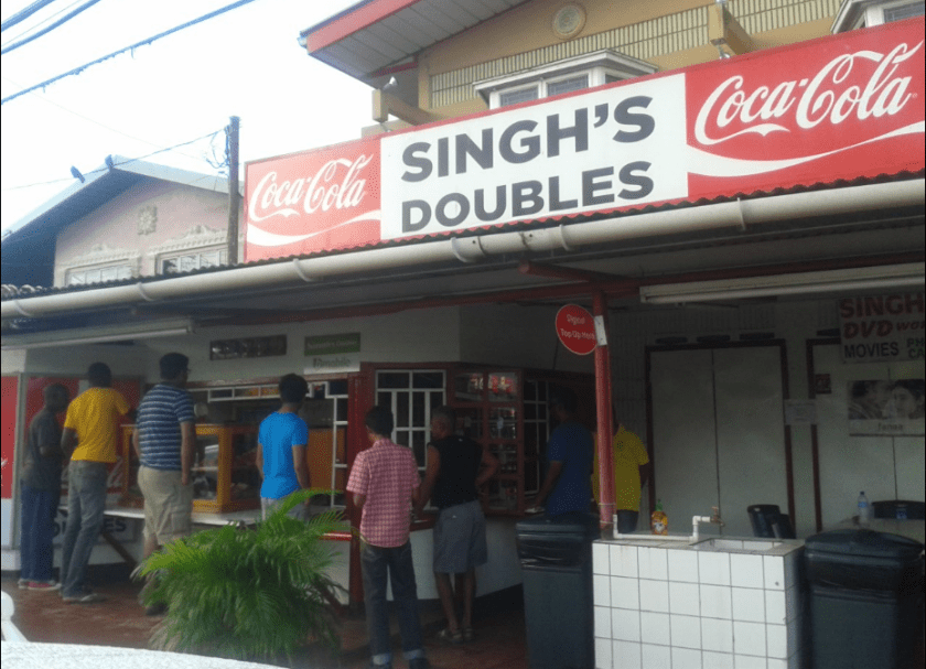 First Stop at Singh's Doubles