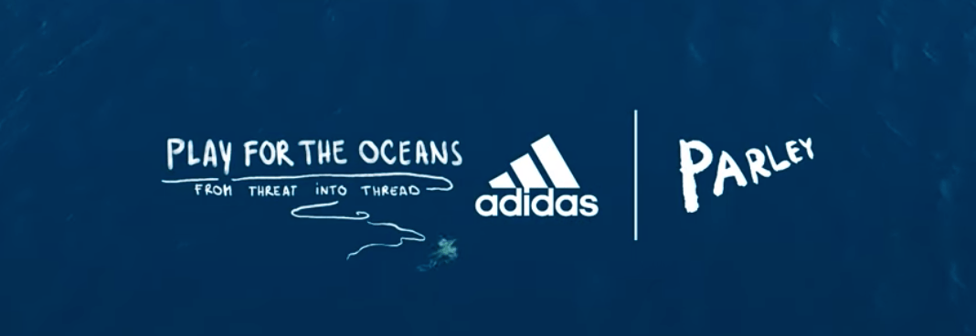Adidas launch new range made from recycled plastic material.