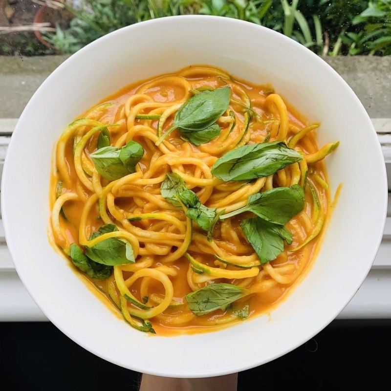 Pasta with RoastCapsicum & Carrot Sauce