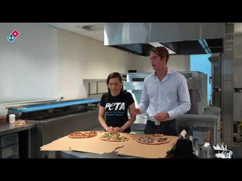 Vegan & Meat eater taste test Domino's Vegan Pizza