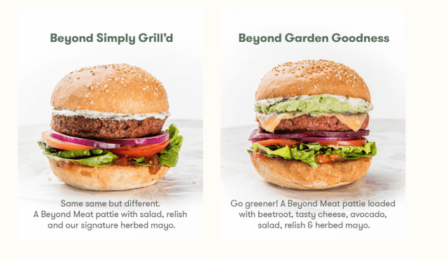 Grill'd do 2 for 1 Beyond Burgers