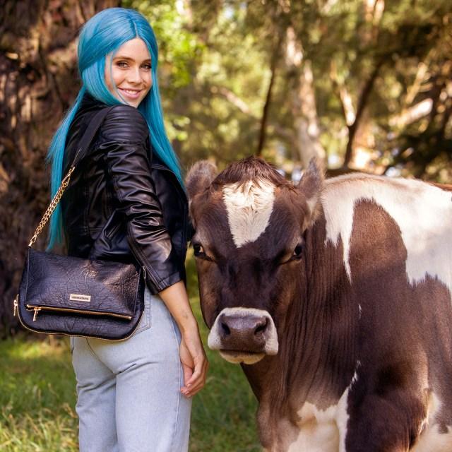 DJ Tigerlily promotes vegan leather
