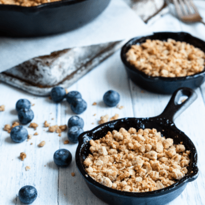 Vegan Breakfast Blueberry Crisp