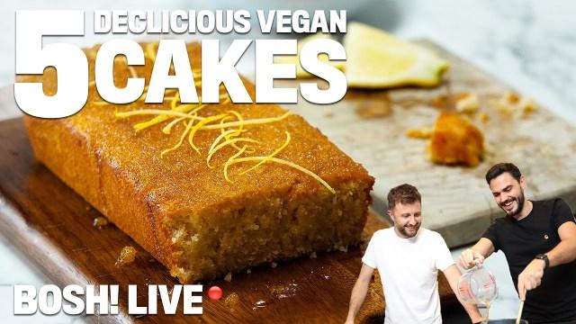 5 EASY VEGAN CAKES