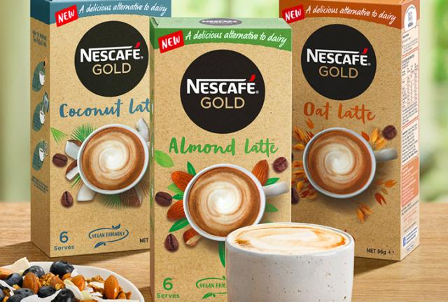 New NESCAFÉ Gold Plant-Based Latte sachet range