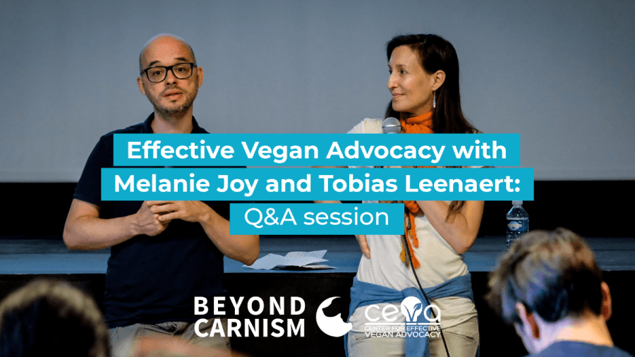 Live Q&A: Melanie Joy and Tobias Leenaert answer your questions!
