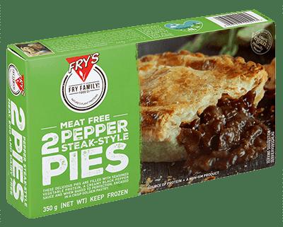 pepper steak vegan pies