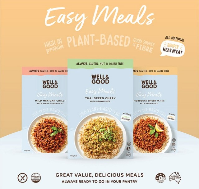 Well and Good Plant Based Meal Kits