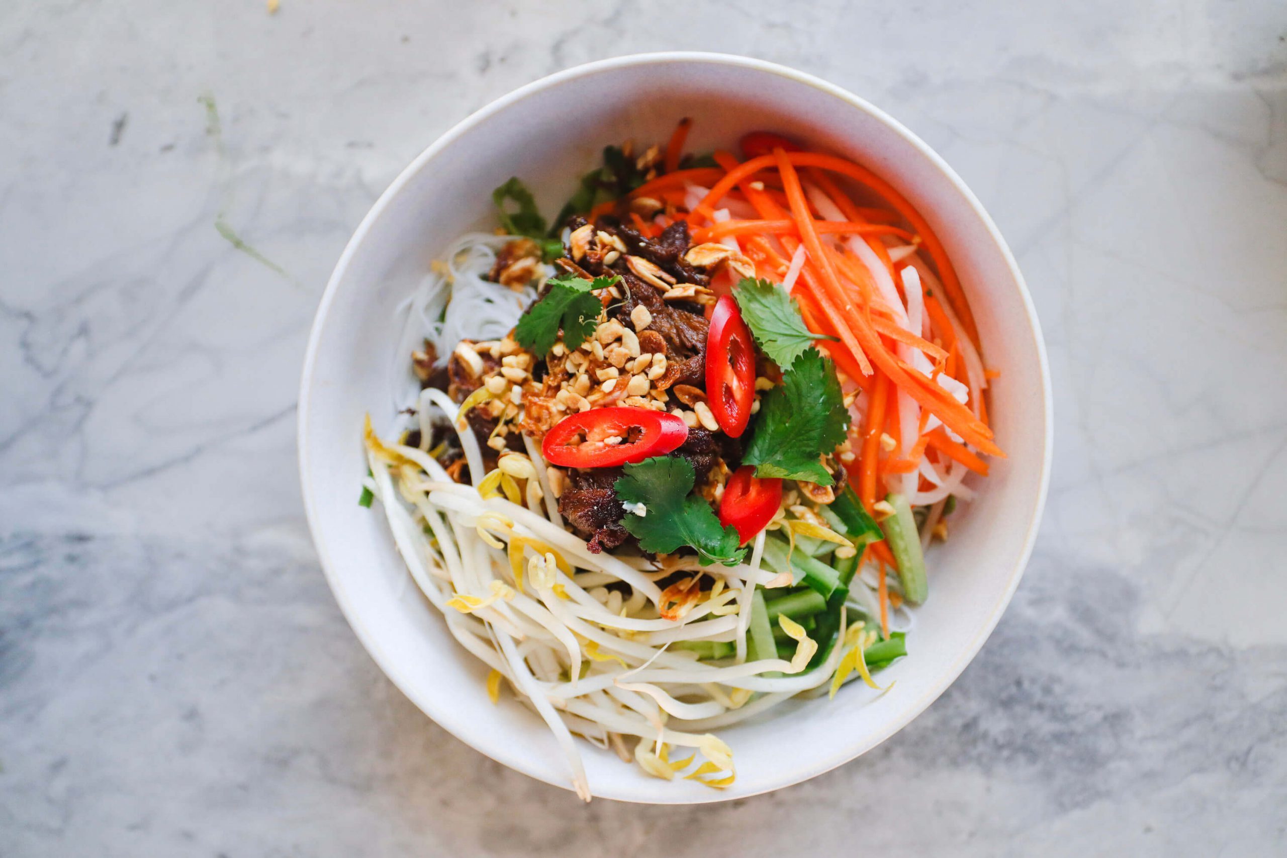 Vietnamese Lemongrass 'Beef' Vermicelli Salad
