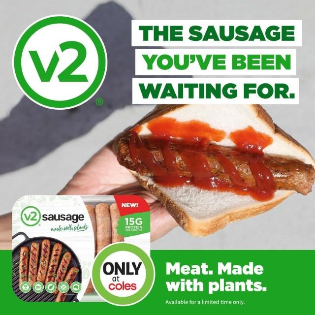V2Foods new plant based sausage.