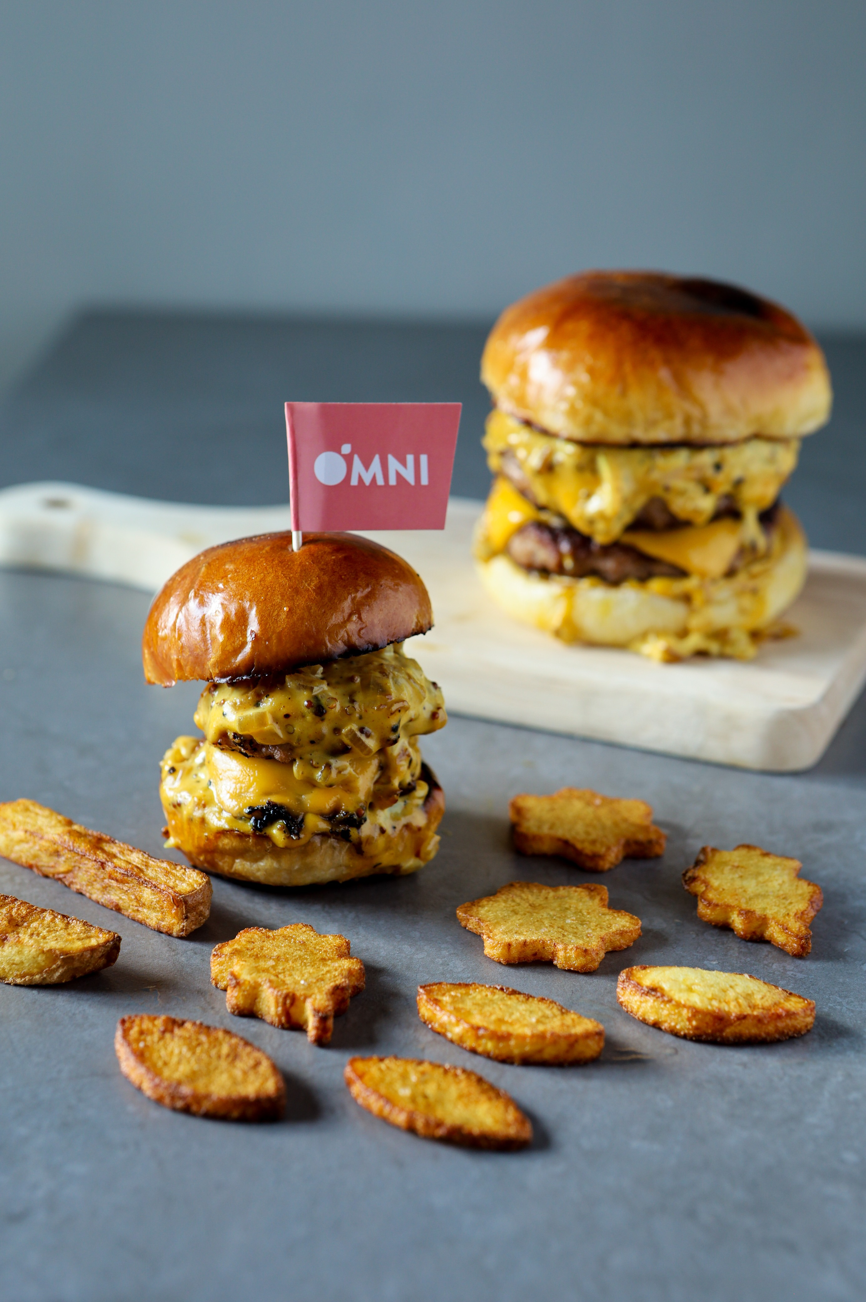 OmniMeat Double Cheeseburger