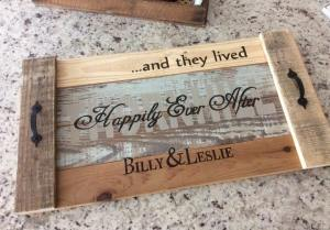 And They Lived Happily Ever After Farmhouse Tray