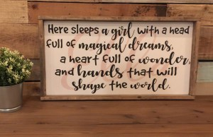 Here Sleeps a Girl with a Head Full of Magical Dreams