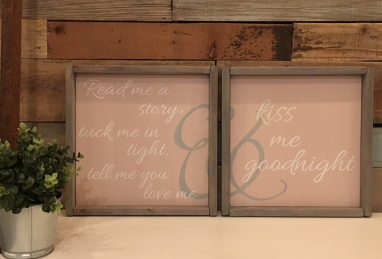 pink signs