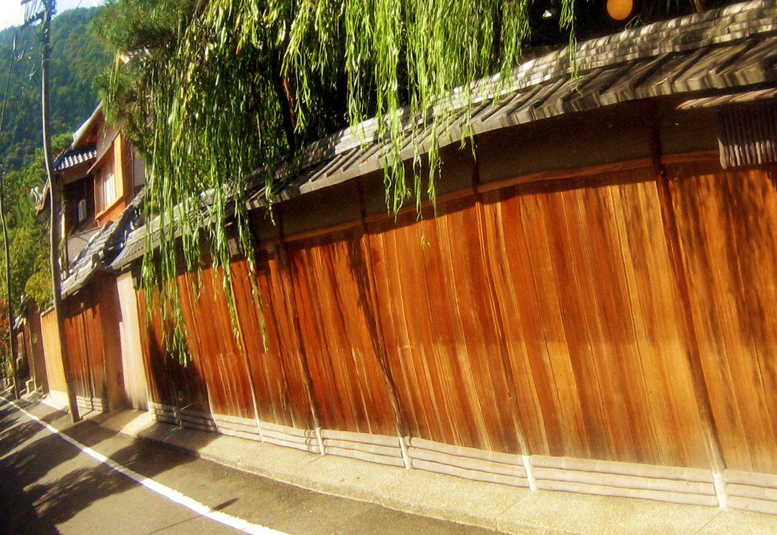 A side street off of Shirakawa-dori. . . in a mirror. Kyoto. 2007.
