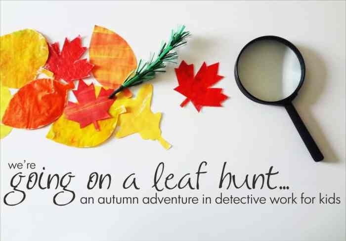 We're Going on a Leaf Hunt: An Autumn Book Activity for Kids #printable #craft *love this
