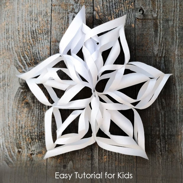 3D Snowflakes Tutorial for kids *So cool