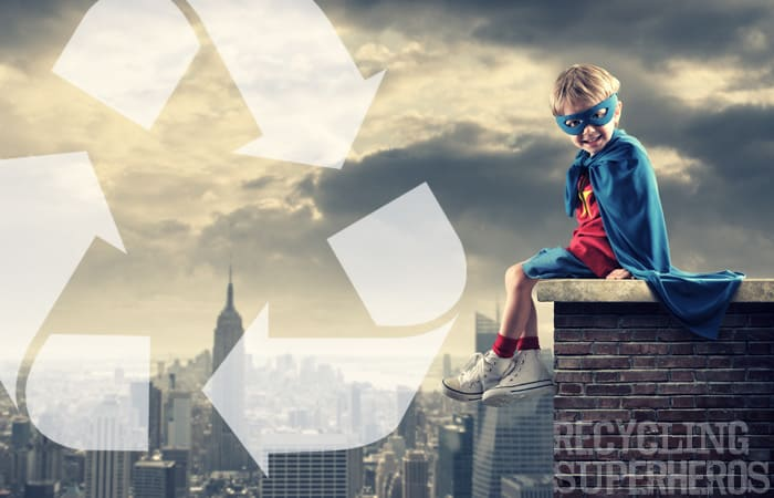 Recycling Superheros: Put your kids in charge or recycling during the Super Bowl to ensure everyone recycles!