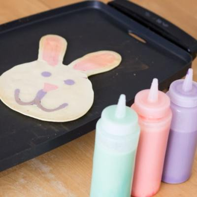 Easter Pancake Art — Easter Eggs, Bunnies and Chicks!