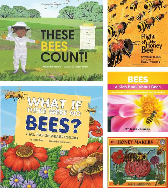 Children's Books on Honey Bees + Gardening Activity *Great post on planting a bee-friendly garden