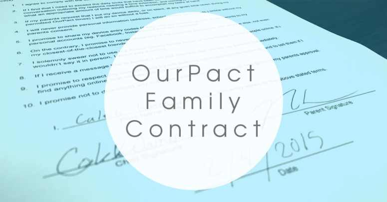 Our Pact Family Technology Contract *This is brilliant