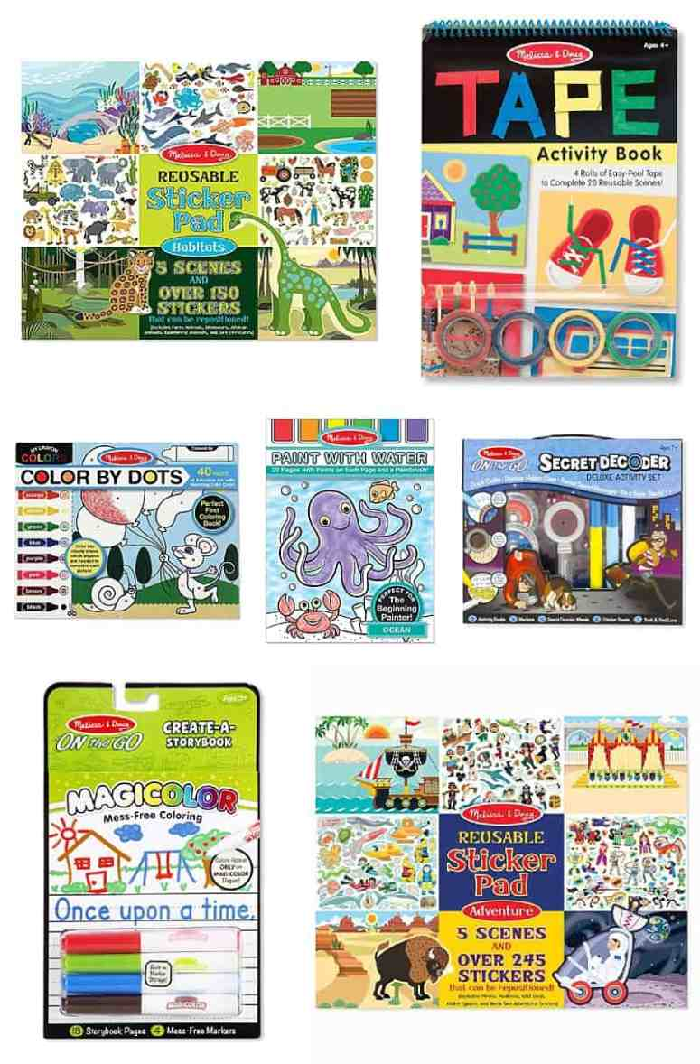 Great tips for making hospital donations. These portable activities from Melissa & Doug would help distract children during painful procedures, treatments, and exams.