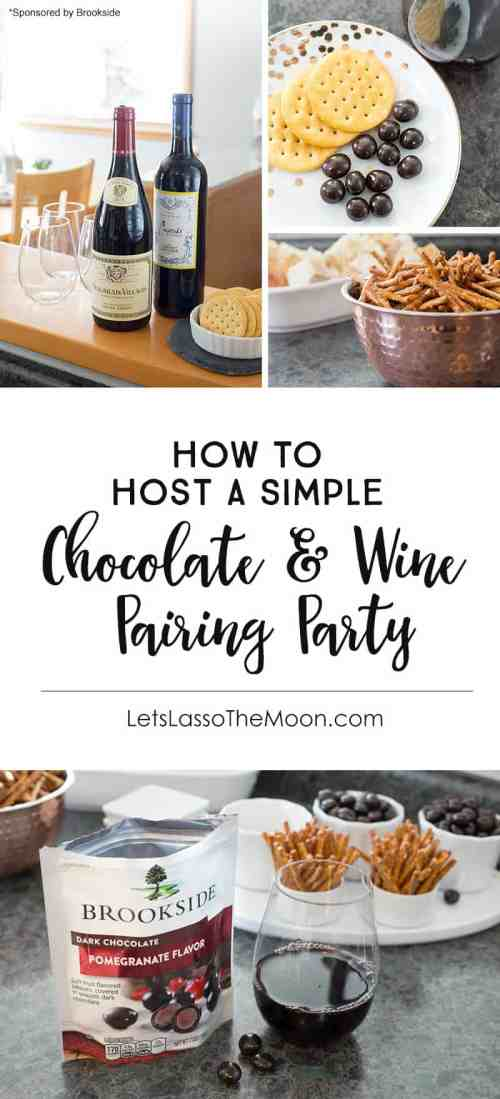 How to Host a Wine & Chocolate Pairing Party To Help You Relax *Great hosting tips!