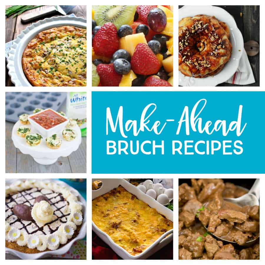 21 Make-Ahead Brunch Recipes - Perfect for parties, celebrating the holidays, or enjoying a lazy weekend at home with your family *Loving this family-friendly list of ideas for menu planning