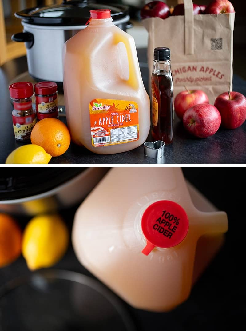 This simple mulled cider recipe only calls for a few simple ingredients: apple cider, spices, a bit of citrus and ... a secret ingredient (pure maple syrup). So delicious and easy in the slow cooker. #crockpot #crockpotrecipes #slowcooker #slowcookerrecipes #recipes #drinkrecipes #thanksgivingrecipes #christmasrecipes #easypeasydrinks #cider #mulledcider #applecider *This Crock Pot recipe is so simple and my family loves it.