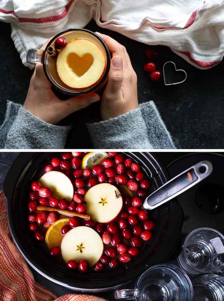 Using a slow cooker for this classic cold-weather mulled cider recipe allows you to prep, pre-make, and thenbe fully present with your family and friends. The slow cooker keeps the hot apple cider warm (and mulling) in the background while you get to sit back and enjoy some downtime with the people you love. #mulledcider #applecider #fallrecipes #thanksgivingrecipes #christmasdrinks #drinkrecipe *My family LOVES this cider
