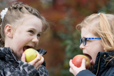 Children eating apples The Orchard Project