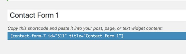 Use shortcode of Contact Form 7